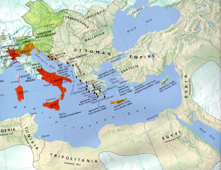 Ottoman Empire In The Mid Sixteenth Century