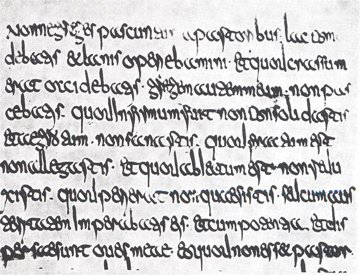 Merovingian script